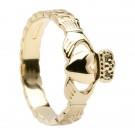 Celtic Rope Claddagh Ring