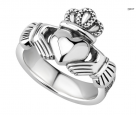 Heavy Silver Claddagh Ring